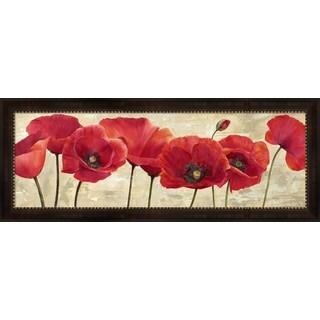 Cynthia Ann 'Red Poppies' Framed Canvas Art