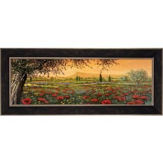 Tebo Marzari 'Pianura in Fiore II' Framed Canvas Art|https://ak1.ostkcdn.com/images/products/14540996/P21092859.jpg?impolicy=medium