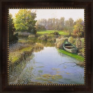 Adriano Galasso 'Sul fiume' Framed Canvas Art