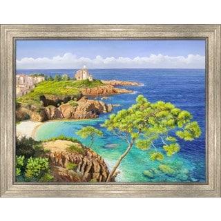 Adriano Galasso 'Costa del Mediterraneo' Framed Canvas Art