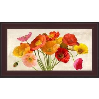 Luca Villa 'Poppies in Spring' Framed Canvas Art