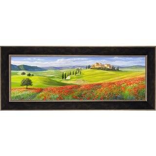 Adriano Galasso 'Verso il Borgo in Toscana' Framed Canvas Art