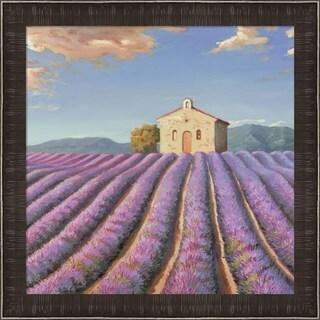 Adriano Galasso 'Campi di Lavanda (Detail)' Framed Canvas Art