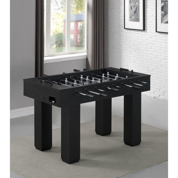 Shadow Black Finish/Grey Woodgrain Foosball Table