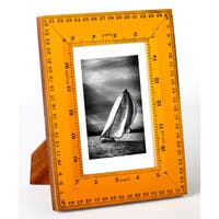 """Recycled Ruler 4x6"""" Photo Frame"""
