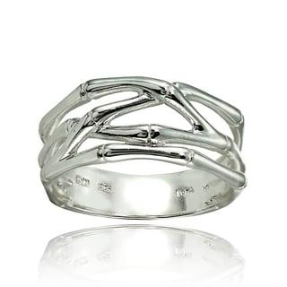 Mondevio Sterling Silver High Polished Bone Wrap Ring