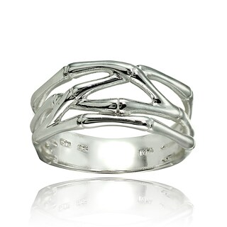 Mondevio Sterling Silver High Polished Bone Wrap Ring