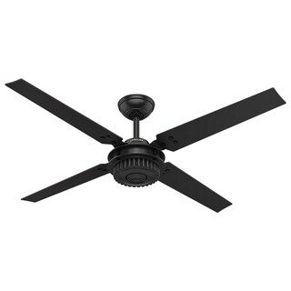 Hunter Chronicle Satin Black 54-inch 4 Satin Black Blades Ceiling Fan