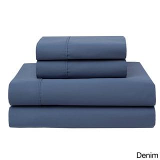 Wrinkle Free 420 Thread Count Cotton Sheet Set (Denim - 4 Piece - Full)
