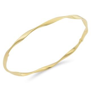 Fremada Italian 18k Yellow Gold 3-mm Twisted Slip-on Bangle Bracelet