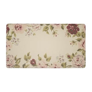 Laura Ashley Clarissa Anti-Fatigue Gelness Cranberry Kitchen Mat - (20 x 32 in.)