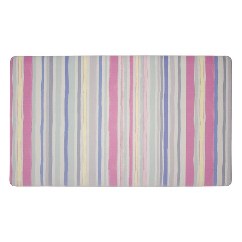 Laura Ashley Lollies Washed Stripe Anti-Fatigue Gelness Multicolor Kitchen Mat - 20 x 32 in.