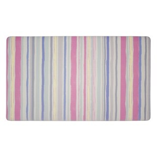 Laura Ashley Lollies Washed Stripe Anti-fatigue Gelness Multicolor Kitchen Mat (20 in. x 32 in.)