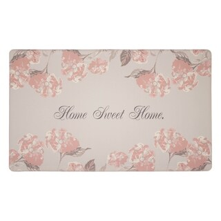 Laura Ashley Hydrangea Anti-Fatigue Gelness Dove Grey Kitchen Mat - (20 x 32 in.)