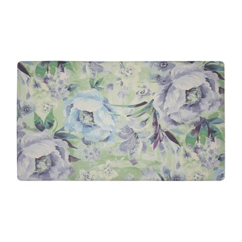 Laura Ashley Francesca Anti-Fatigue Gelness Teal Kitchen Mat - 20 x 32 in.