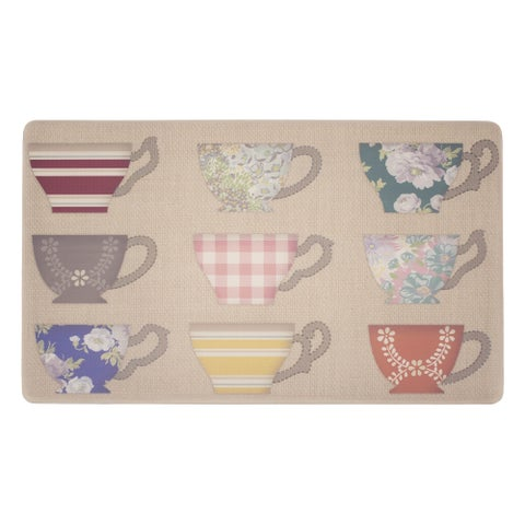 Laura Ashley Bristol Anti-Fatigue Gelness Multicolor Kitchen Mat - 20 x 32 in.