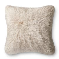 Luxe Solid-color Shag 22-inch Throw Pillow or Pillow Cover