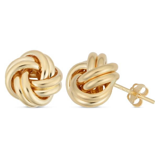 earrings products knots love jewelers white gold diamond knot lunden post