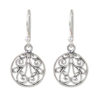 Handmade Sterling Silver Dangle Earrings, 'Lace' (Thailand)