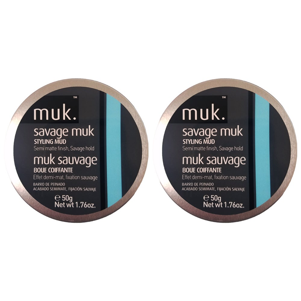 Muk Savage Muk 1.76-ounce Styling Mud (Brown) (Pack of 2)...