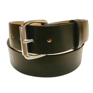 Men's Solid Leather Stainless Buckle Belt