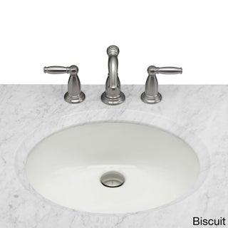 Maykke Landon Undermount Ceramic Sink in Biscuit