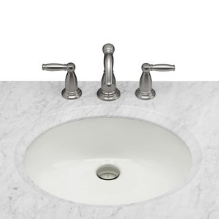 Maykke Landon Undermount Ceramic Sink in Biscuit