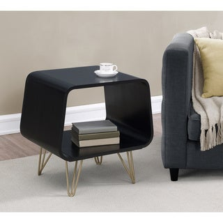 Palm Canyon Astro Black End Table