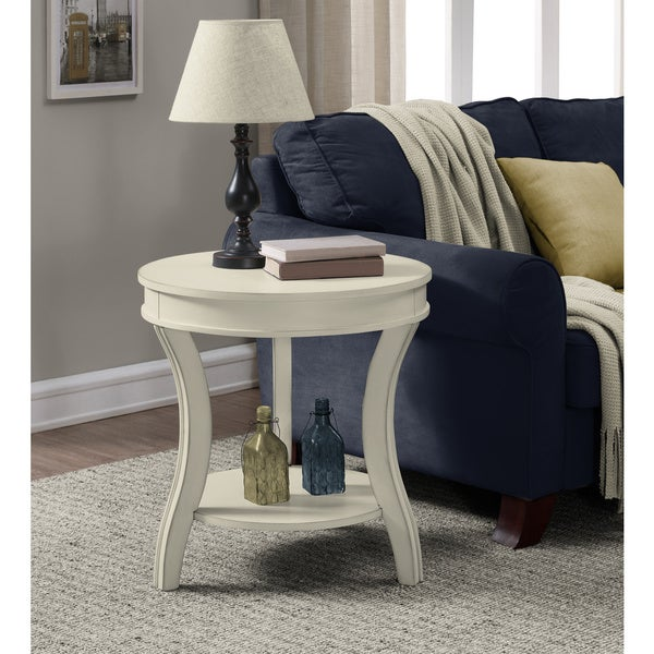 Superieur Wyatt Cream End Table