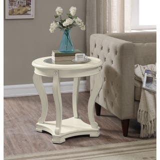 cream coffee console sofa end tables for less. Black Bedroom Furniture Sets. Home Design Ideas