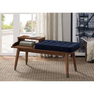 Navy Tufted Telephone Bench