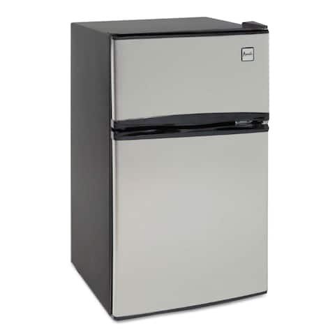 Avanti Counter-Height 3.1 Cubic feet Two-Door Refrigerator/Freezer Black/Stainless Steel