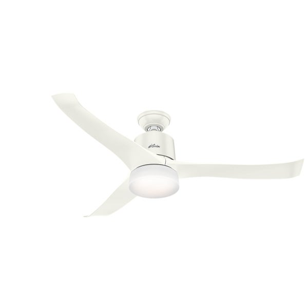 Shop hunter fan symphony 54 inch fresh white ceiling fan with 3 hunter fan symphony 54 inch fresh white ceiling fan with 3 fresh white blades works aloadofball Image collections