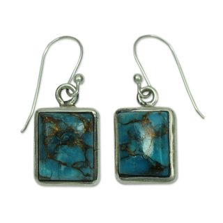 Handmade Sterling Silver Dangle Earrings, 'Friendship' (India)