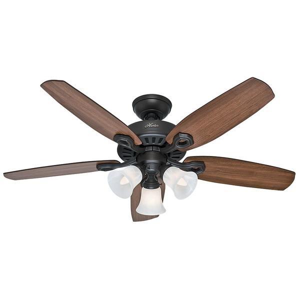 Hunter fan small room bronze brazilian cherry and harvest mahogany blade 42 inch ceiling fan - Ceiling fan short blades ...