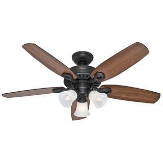 Hunter Fan Small Room Bronze Brazilian Cherry and Harvest Mahogany Blade 42-inch Ceiling Fan