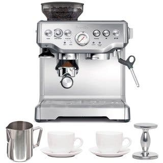 Breville BES870XL Barista Express Espresso Machine with Espresso Tamper, Frothing Pitcher & Two Tiara Cup and Saucers|https://ak1.ostkcdn.com/images/products/14543374/P21094956.jpg?impolicy=medium