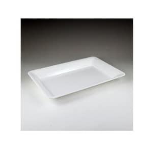 Maryland Plastics 'Sovereign' White Plastic Rectangular Tray