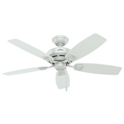 """Hunter 48"""" Sea Wind Outdoor Ceiling Fan with Pull Chain, Damp Rated"""