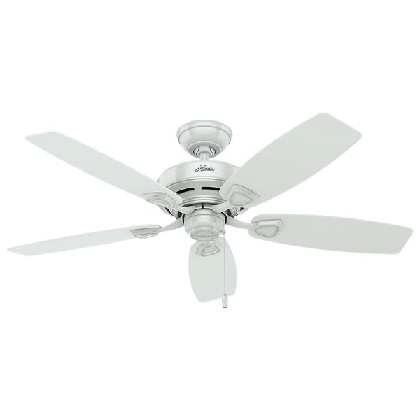 "Hunter 48"" Sea Wind Outdoor Ceiling Fan with Pull Chain, Damp Rated. Opens flyout."