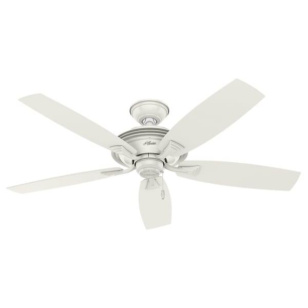Hunter 52 Contemporary Ceiling Fan 3 Coffee Blades: Shop Hunter Fan Rainsford Fresh White 52-inch Ceiling Fan