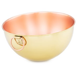 Solid Copper 5-quart Beating Bowl with Champagne Tone Finish