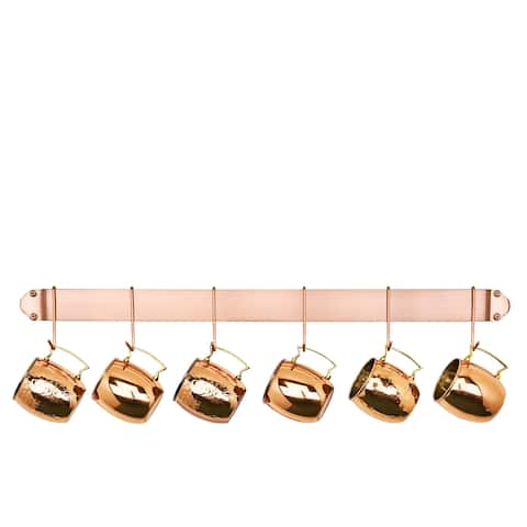 Old Dutch Copper 34-inch 6-hook Bar Rack