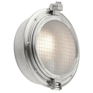 Kichler Lighting Clear Point Collection 1-light Brushed Aluminum Outdoor Wall Sconce