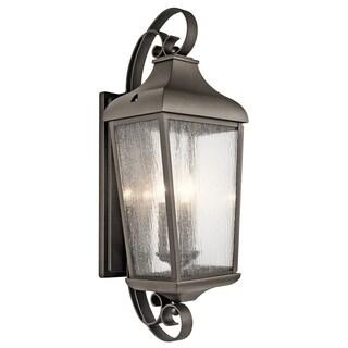 Kichler Lighting Forestdale Collection 3-light Olde Bronze Outdoor Wall Lantern