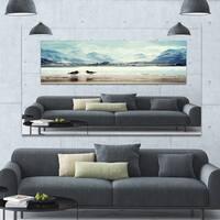 Designart 'Birds and Mountain Peak' Seashore Wall Art on Canvas