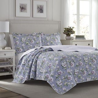 Laura Ashley Carlisle Amethyst Quilt Set