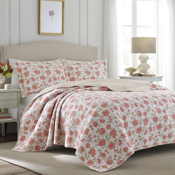 Laura Ashley Cadence Apricot Quilt Set