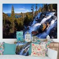 Designart 'Eagle Falls Emerald Bay Lake Tahoe' Modern Landscpae Wall Art