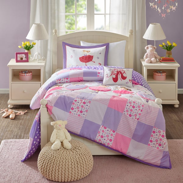 Mi Zone Kids' Dancing Duchess Purple Comforter Set